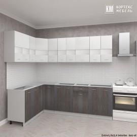 Кухня  Корнелия  ЭКСТРА угловая 1,5х2,4 без столешницы [км.01923]